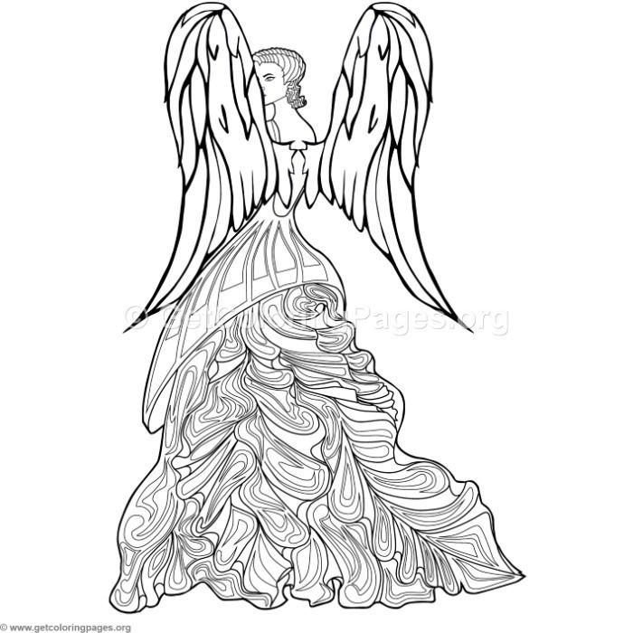 Free Download 3 Fashion Angel Coloring Pages Coloring Coloringbook