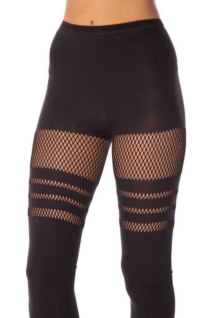 #140 OSFA Sporty Stripes Hosiery 2.0 by Black Milk Clothing (Friend)