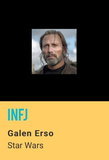 My favorite characters almost always turn out to be INFJs :) Shouldn't be surprised here though because this character reminds me so much of my grandpa, who was also INFJ.