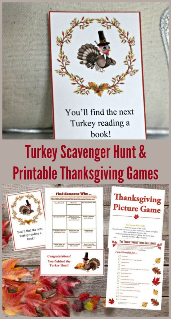 Thanksgiving Scavenger Hunt & More Games