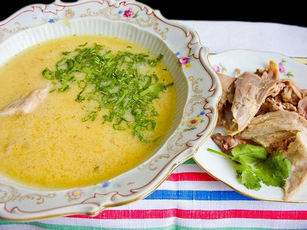 Целебный куриный суп - чихиртма | Школа шеф-повара