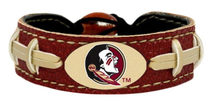 Florida State Seminoles Football Bracelet - Team Color Style