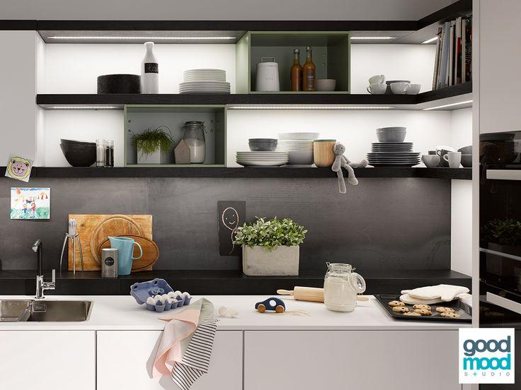 Beckermann Küchen - Silvia Beton Concrete Dark