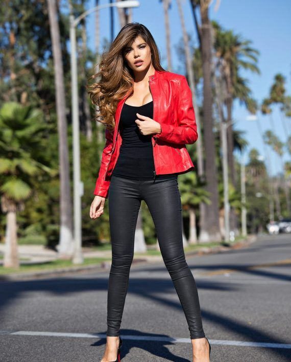 red-leather-jacket-for-women-moto-fashion-genuine-leather-jacket-model-front