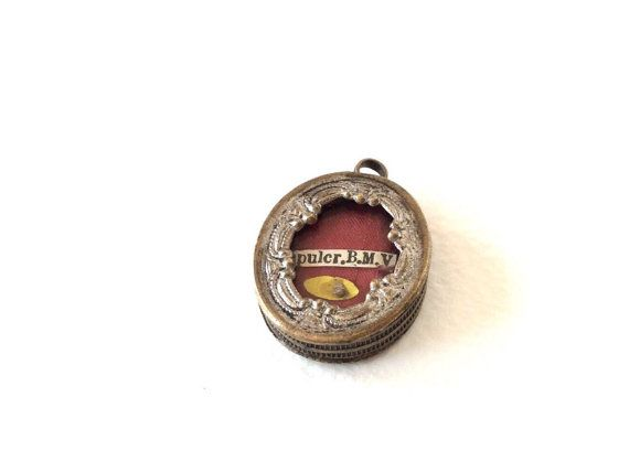 Antique reliquary locket. Religious by SouthofFranceFinds on Etsy