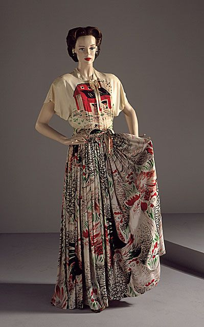 "Adrian ""The Egg and I"" dress ca. 1947 via The Costume Institute of the Metropolitan Museum of Art"