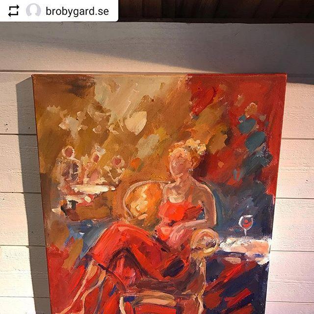 #Repost @brobygard.se with @instatoolsapp  Ny utställning med Carina Nordborg Vernissage 7/4 12-16  #cafe #konst #vårkänslor #vintage  #inredning #inspiration #lugnochro #brölloppsgåva  #varmtvälkomna