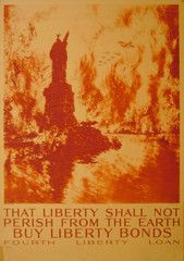 1918 Original American WWI Poster, That Liberty Shall Not Perish (Untrimmed) - Pennell