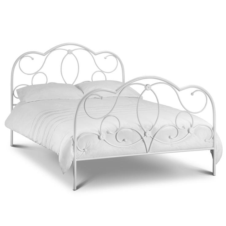 chelsea white metal bed frame