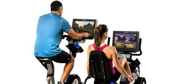 le Vélo Expresso HD est doté d'un écran HD de 60 cm. Il intègre de nombreux capteurs ayant pour rôle principal de fournir des mesures très complètes à l'utilisateur, telles que la vitesse instantanée, la vitesse moyenne, les calories brûlées et la pulsation cardiaque. Notons que la pulsation cardiaque est captée par un système handpulse intégré dans le guidon du vélo fitness.