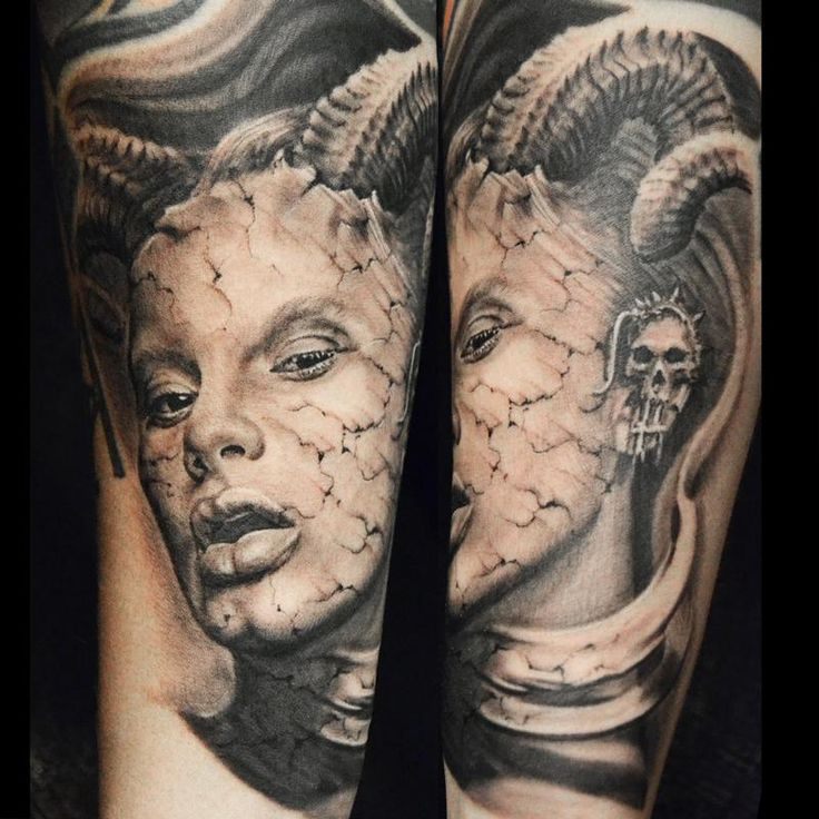 Tattoo Woman Demonic: 38 Best Realistic Devil Tattoos Images On Pinterest
