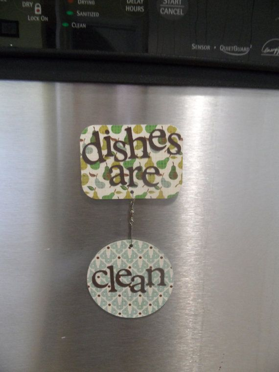 dishwasher magnet - pears on Etsy, $7.00 ~ I need to make something like this for our dishwasher.
