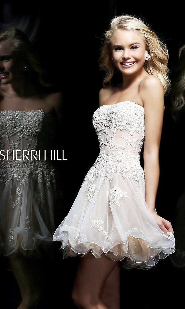 10  ideas about Peach Homecoming Dresses on Pinterest - Sparkly ...