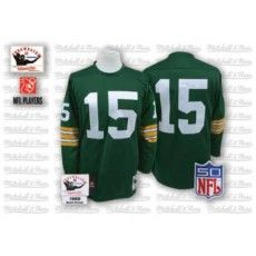 Mitchell & Ness Green Bay Packers #15 Bart Starr Green Stitched Throwback NFL Jersey