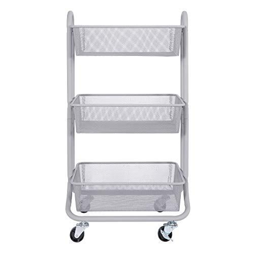 Designa 3 Tier Metal Mesh Rolling Storage Cart With Utili Https Www Amazon Com Dp B077hg9g71 Ref Cm Sw R Storage Cart Rolling Storage Rolling Storage Cart 3 tier cart with wheels
