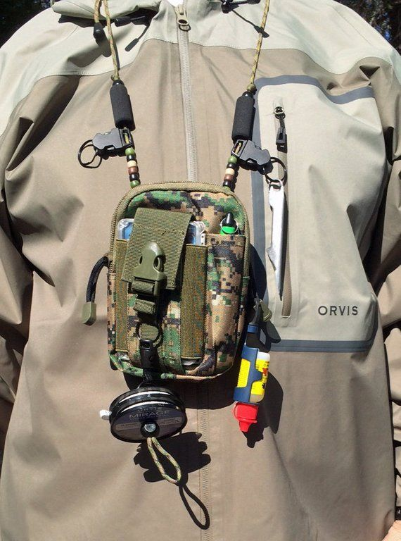 Sling Pack Lanyard Color Army Green Free Fly Box Fly Fishing Lanyard Fly Fishing Fishing Lanyard