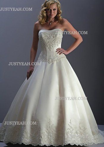 Formal luxury summer Strapless Wedding Dresses 2012