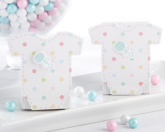 Welcome Baby favore Box Set di 24 Multi colore pois scatole Candy Buffet Goodie…