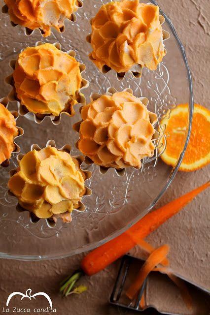 La Zucca candita: Cupcakes alla carota e arancia