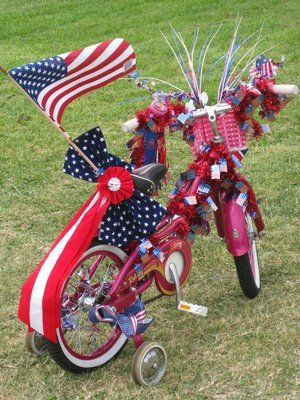 13 best images about floats on pinterest decorating for Bike decorating ideas