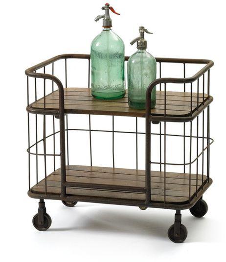 Hip Vintage Farmhouse Bar Cart