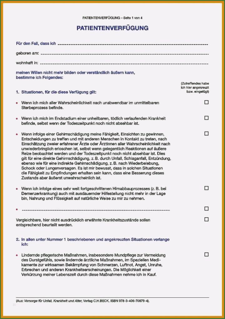 Imposant Patientenverfugung Vorlage Sie Mochten Sofort Kopieren In 2020 Patientenverfugung Vorlagen Wahrscheinlichkeit