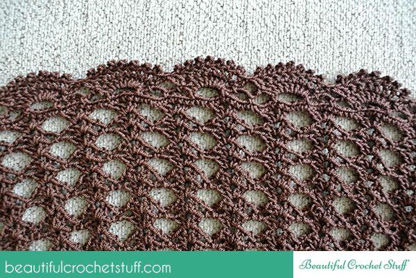crochet long skirt free pattern
