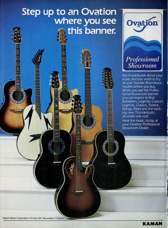 1989 Ovation Guitar Promo Ad Rock Music Rock N' by MusicSellerz