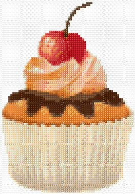 Cherry Cupcake Cross Stitch Pattern PDF Download. $6.00, via Etsy.