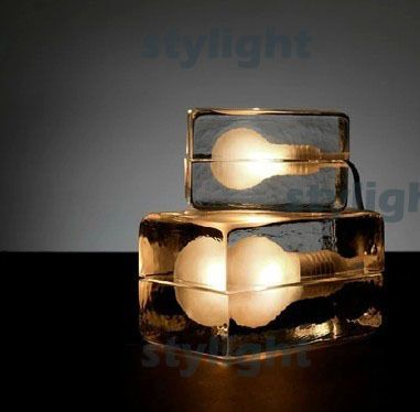 design house block table lamp ice table lighting modern design crystal desk lights bedroom living room sitting room dinning room