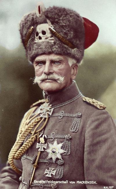 Generalfeldmarschall von Mackensen during World War I. Prussian Military i can almost hear the Umpa-pa band behind him!