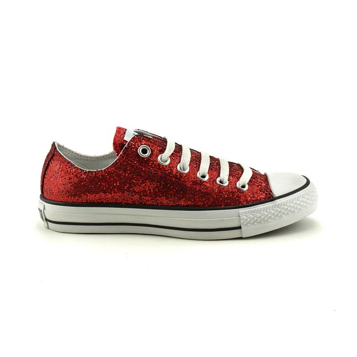 Sparkly, ruby-red Chucks. We're not in Kansas anymore.