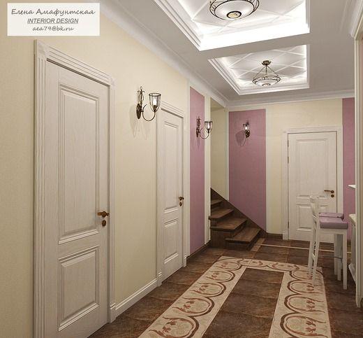 Кухня-столовая-коридор в частном доме. Коридор; Холл
