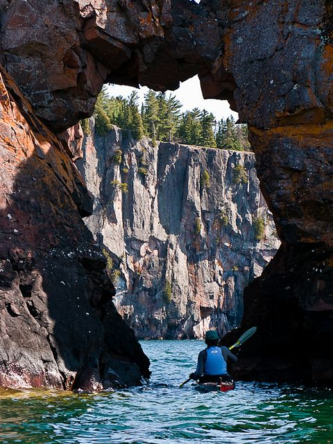Apostle Islands kayaking is an experience not to be missed. In fact, Bayfield and The Apostle Islands offer not only some of the best kayaking in Wisconsin, but anywhere in North America. On your Apostle Islands kayaking adventure, you'll enjoy breathtaking views of rising bluffs and historic lighthouses while cruising along the pristine Lake Superior shoreline. And you can venture into the famous sandstone sea caves that come alive with crimson color in the early morning and late afternoon…