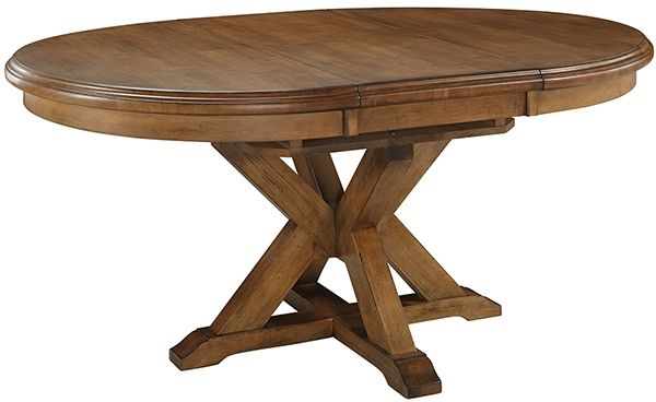 Parawood Canyon Extension Pedestal Table | Bare Woods Furniture | Real Wood Furniture Finished Your Way