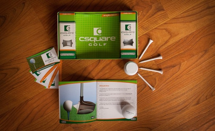 Brochure and Golf ball packaging created for Csquare Golf, a company located in Springfield, New Jersey. #NJ #golf #design