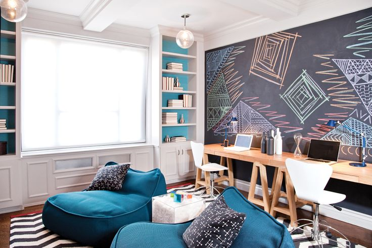 Nathan Thomas bonus room with oversized chalkboard