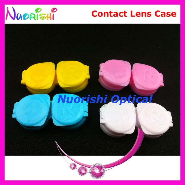 100 pcs Free Shipping C205 new fashion contact lens case contact lenses case #Affiliate