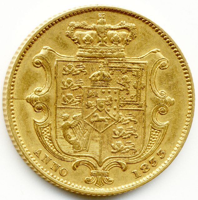 1833 UNITED KINGDOM, KING GEORGE IV, GOLD FULL SOVEREIGN COIN,