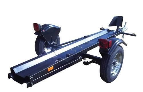 Folding Motorcycle Trailer Portable Collapsible Foldable - Single Rail