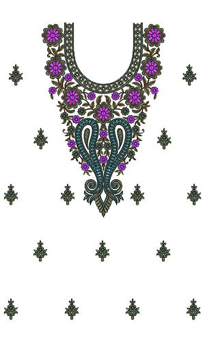 9561 Dress Embroidery Design
