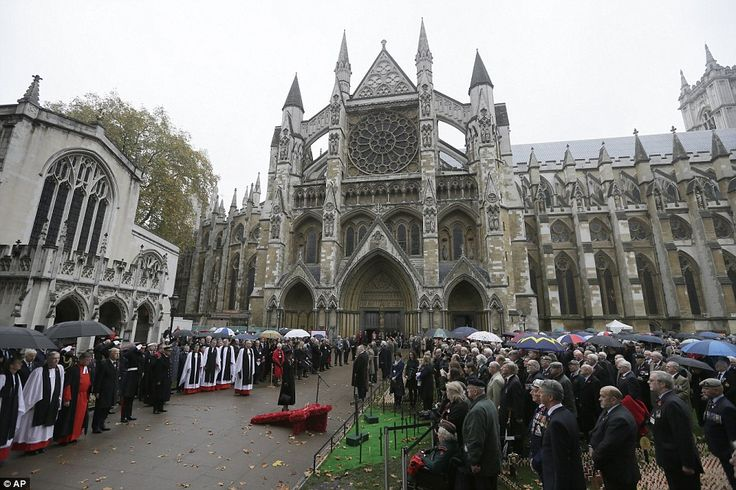 Visitors welcome: The Westminster Abbey Field was officially opened today with a special service, and will not close until November 15