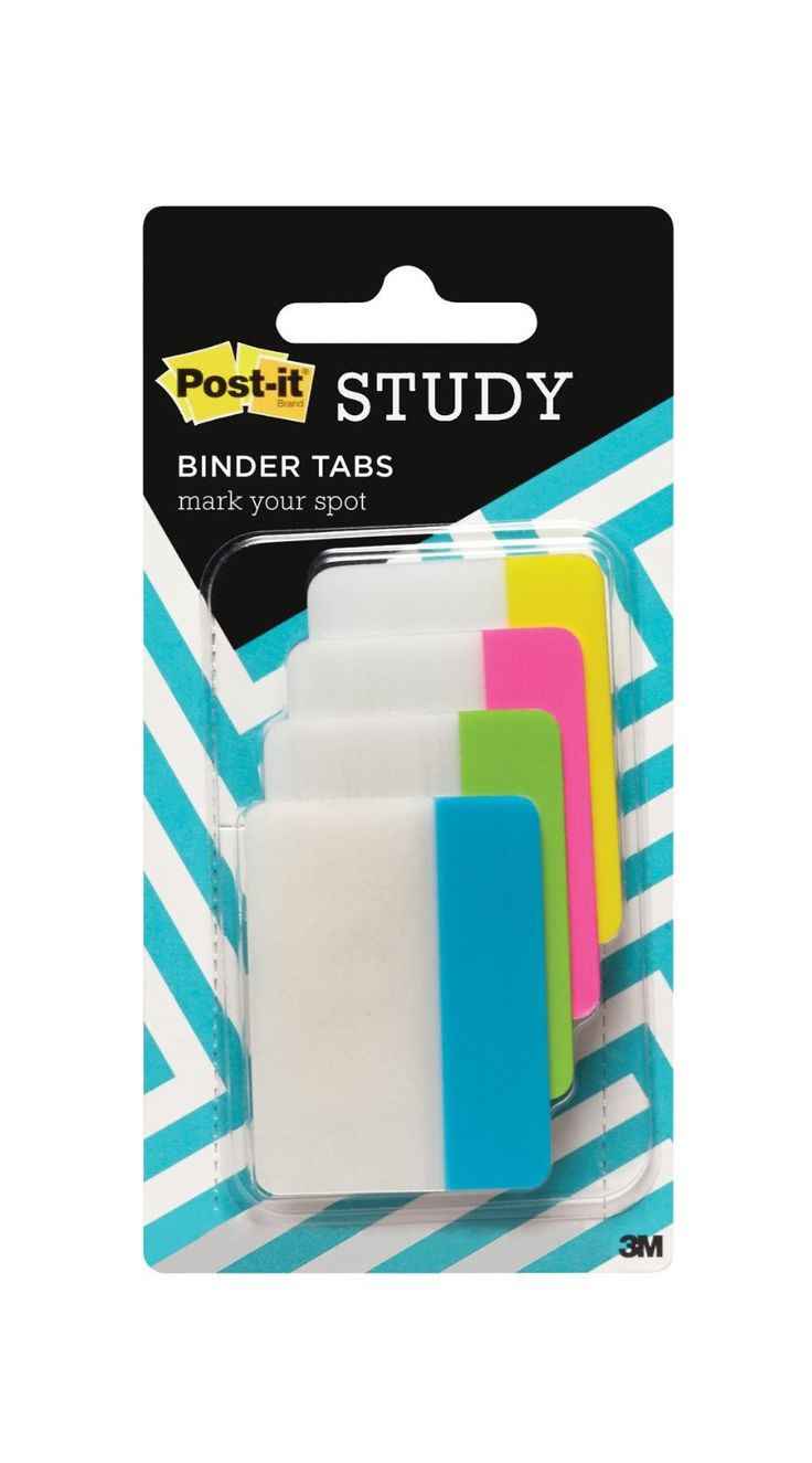 Amazon.com : Post-it Binder Tabs, Bright Colors, 2 x 1 1/2 Inches, 24 Pack (ED-TABS1) : Office Products