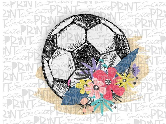 Soccer Mom Clipart Soccer Ball With Flowers Leopard Transparent Png File For Sublimation Soccer Mom Printable Soc Soccer Drawing Soccer Ball Mom Clipart