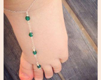 Sandales aux pieds nus sandales enfant bijoux de pied bébé