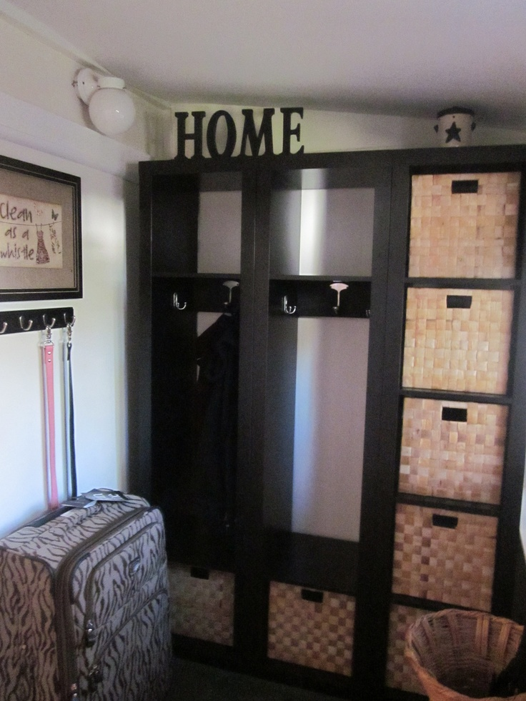 Mudroom Lockers Made From Ikea Bookcases Mudroom