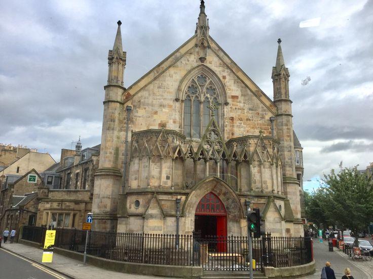 Bedlam Theatre, Edinburgh, Scotland a Neogothic building, originally the New North Free Church built in 1849.