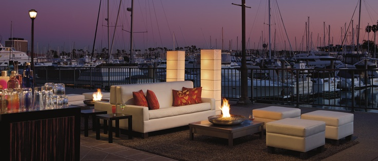 Enjoy an intimate cocktail party with a nautical backdrop at The Ritz-Carlton, Marina del Rey.