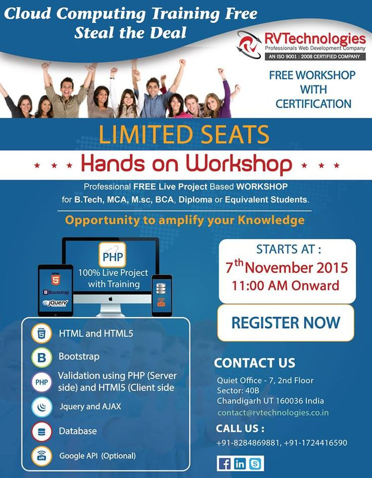 Get free cloud computing training at RV Technologies. Visit our website for more details.
