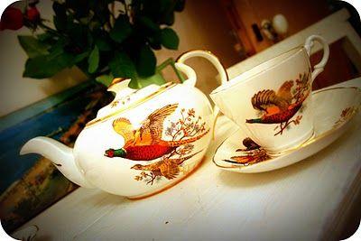 Fancy Vintage china teapot